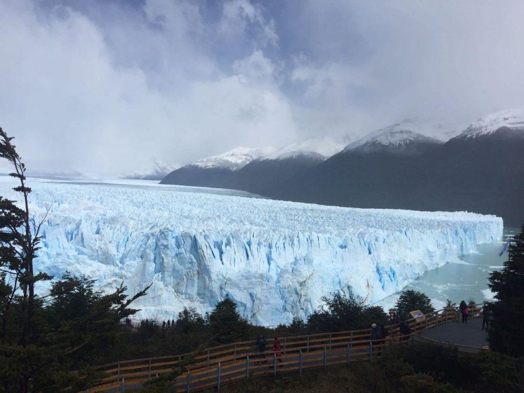 Glaciar Perito Moreno visto da passarela.