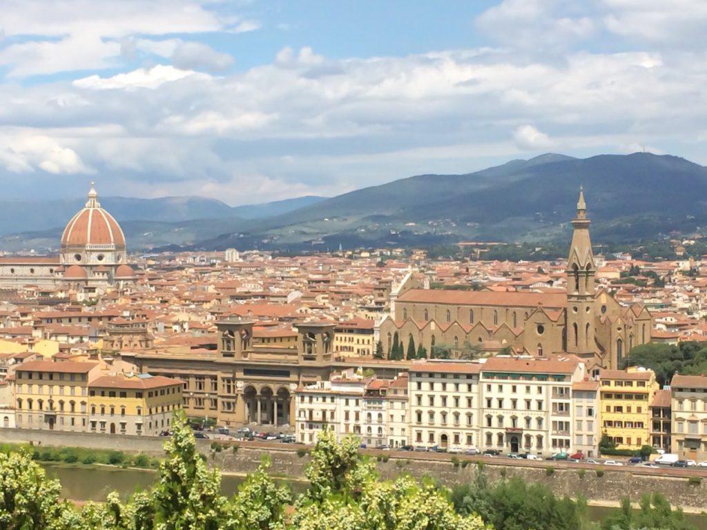 Vista de Firenze desde a praça Michelangelo